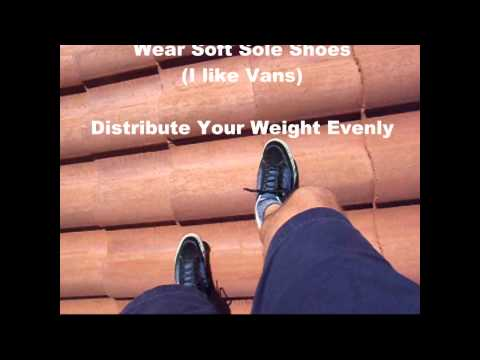 How to Walk on a Concrete Tile Roof