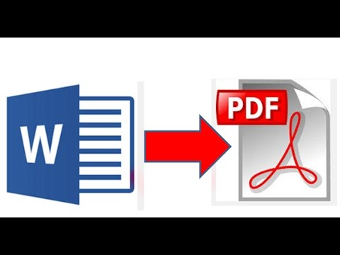 Cara Mengubah atau convert word ke pdf dalam Microsoft Word 2010/2013 dengan mudah