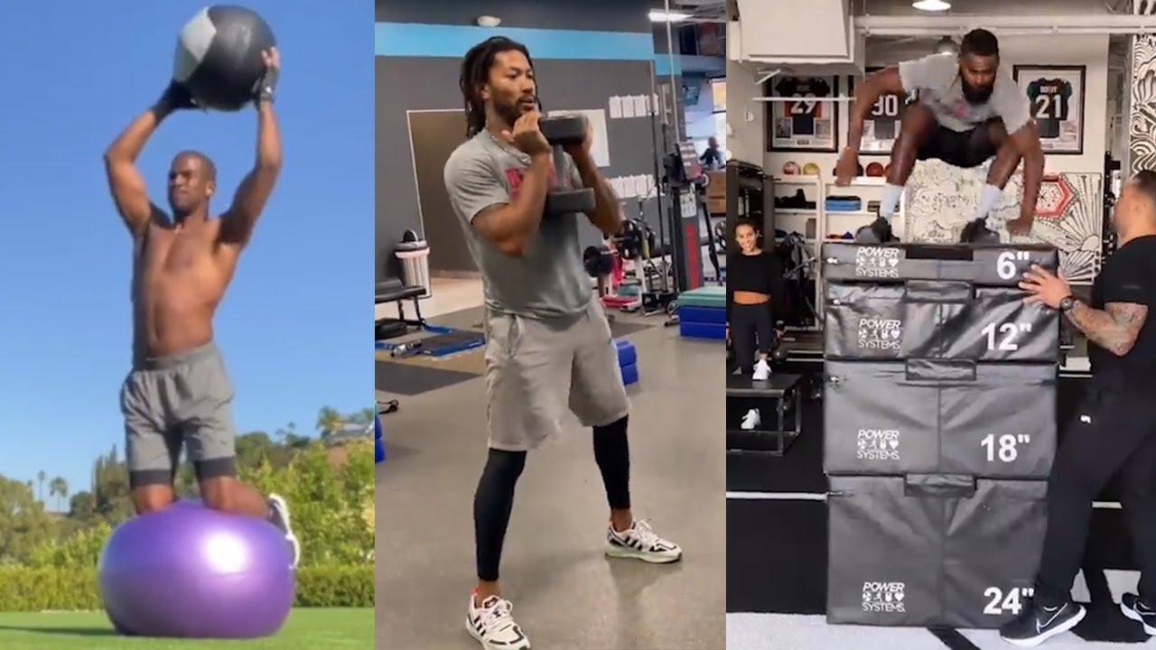 NBA players gym workouts before the 2020-21 NBA season