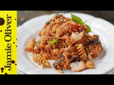 Tomato, Aubergine & Ricotta Pasta | Jamie Oliver | Everyday Super Food