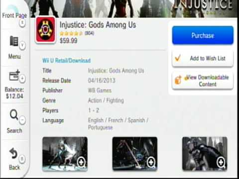 How to buy Injustice DLC on WiiU