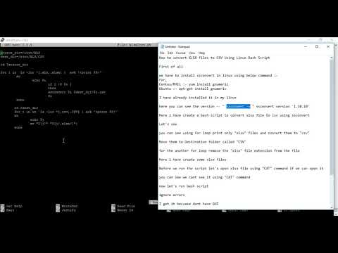 How to Convert XLSX file to CSV using Linux Bash Script
