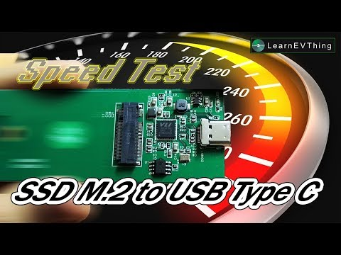 Build the High Speed USB drive by SSD M.2 to USB Type-C adapter, unboxing and Speed Test