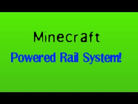 Minecraft- How to build a Powered Rail System
