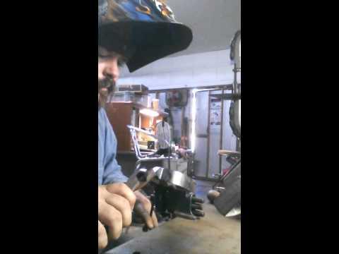Tig welding shanks to bands for spurs