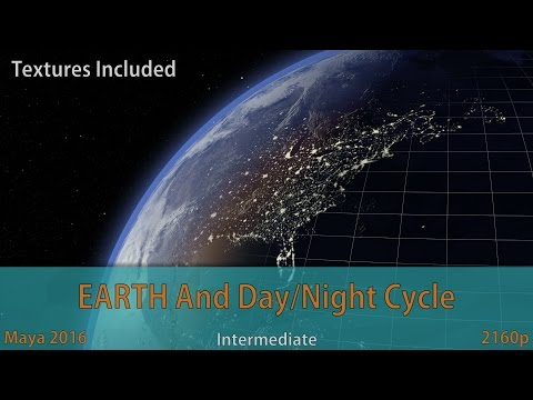 Creating Earth in Maya with Day/Night Cycle