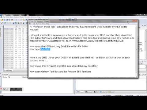 IMEI Restore By using HEX Editor