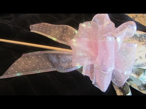 How to Make a Bow For Gift or Present With Ribbon EASY