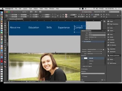 How to create an interactive pdf using InDesign CC