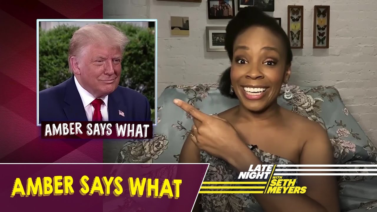 Amber Says What: Trump's Cognitive Test, Confederate Statues