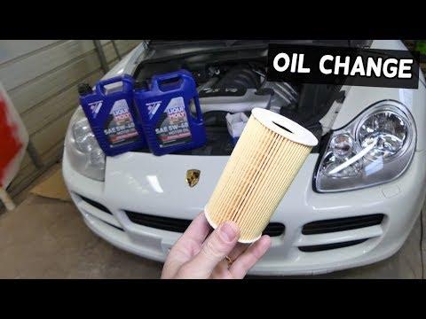 HOW TO CHANGE ENGINE OIL ON PORSCHE CAYENNE S 4.5 V8