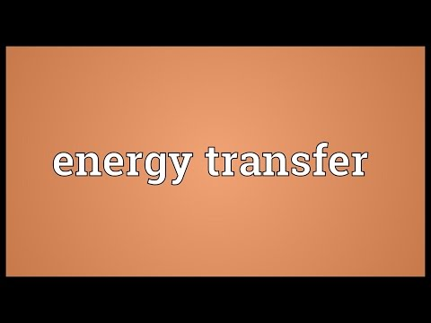 Energy transfer Meaning