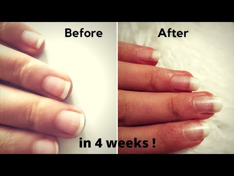 OMG! long & super hard nails in 4 weeks ! all natural