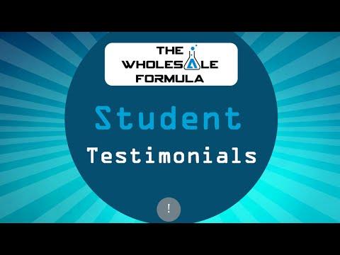 The Wholesale Formula - Testimonial Clips