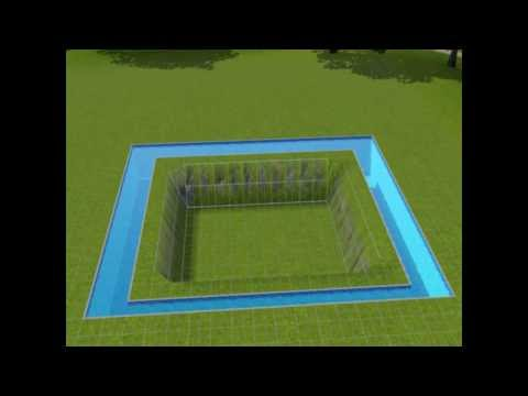 How to make an underwater basement SIMS 3