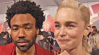 Donald Glover & Emila Clarke at the Solo: A Star Wars Story world-premiere (2018)