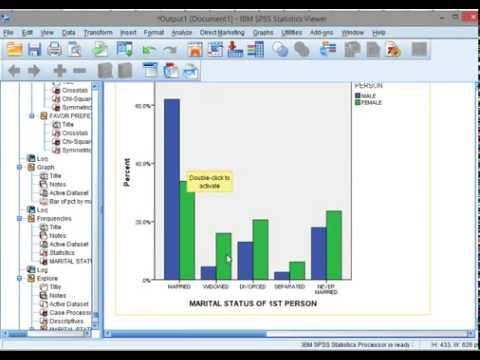 SPSS: Clustered Bar Chart