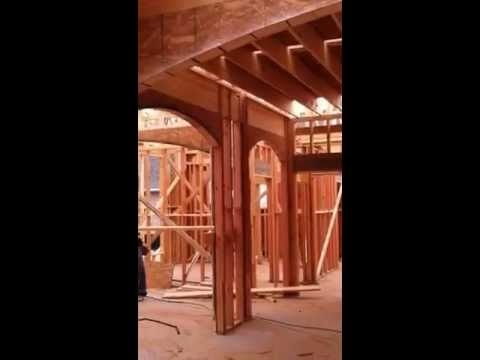 Inside arches , fireplace framing