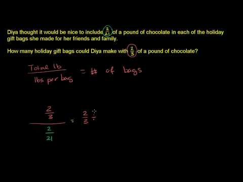Dividing fractions word problems (ex 1)