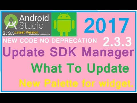 #2 Android studio 3.0 - SDK manager update tutorial. First thing first. Informative New Guide 2017
