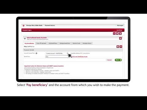 How to pay a beneficiary using Swift