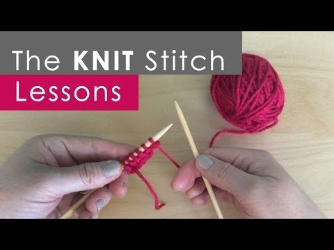 How to Knit the KNIT Stitch: Knitting Lessons for Beginners