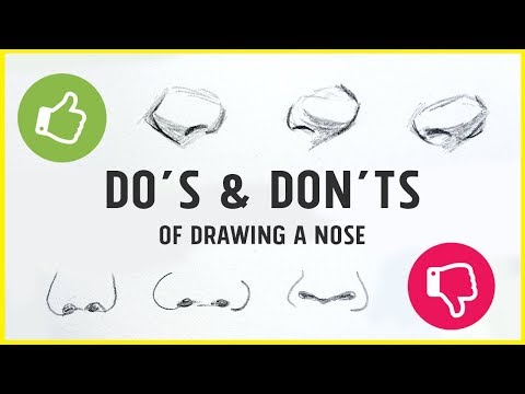 DO's & DON'TS - How to Draw a Nose!【Tips, Tricks & My Technique】