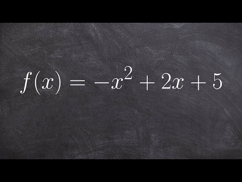 Completing the square by factoring out a negative one