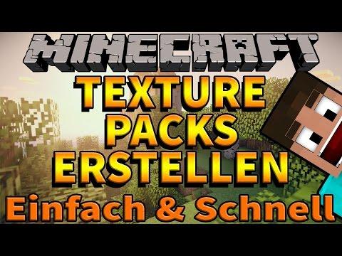 EIGENES Minecraft TEXTURE PACK Erstellen - TUTORIAL - 1.8