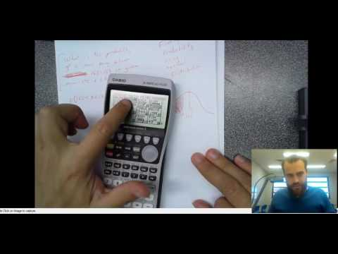 Normal Distribution Finding Probability of a range using Graphics Calculator