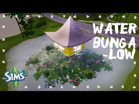 Sims 3 House Build: BUNGALOW OVER THE POND ❀