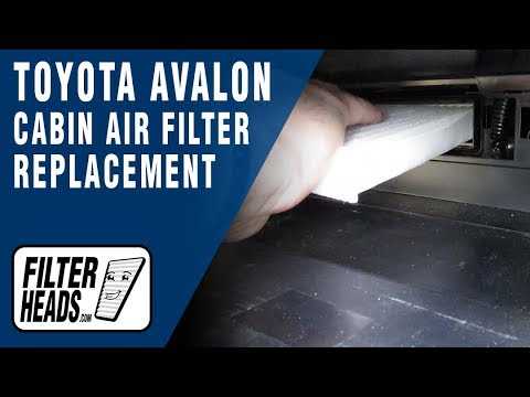 How to Replace Cabin Air Filter 2013 Toyota Avalon