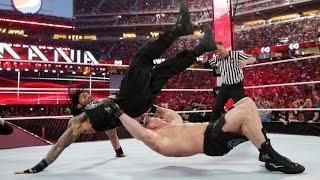 Brock Lesnar vs Roman Reigns, Wrestlemania 31 full match in HD