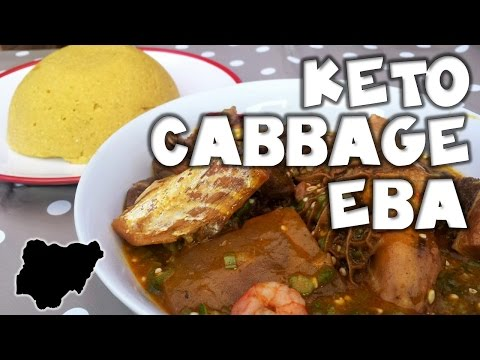 Ketogenic Nigerian Style │How to make Cabbage Eba Swallow │MakeItWithChichi Ep3