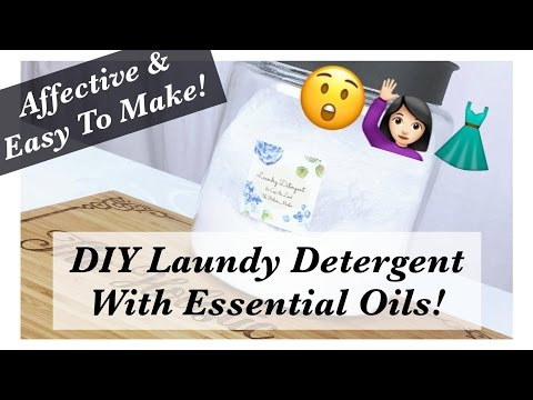 How To Make DIY Laundry Detergent With Essential Oils