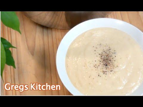 HOW TO MAKE CREAM OF CAULIFLOWER SOUP - Recipe - Greg's Kitchen