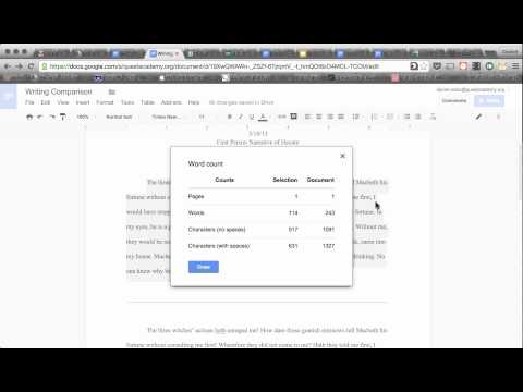 How To Use Word Count in Google Docs