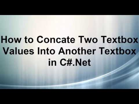 How to Concate Two Textbox Values Into Another Textbox in C#