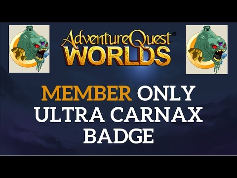 AQW - HOW TO GET ULTRA CARNAX BADGE (MEMBER ONLY 2016)