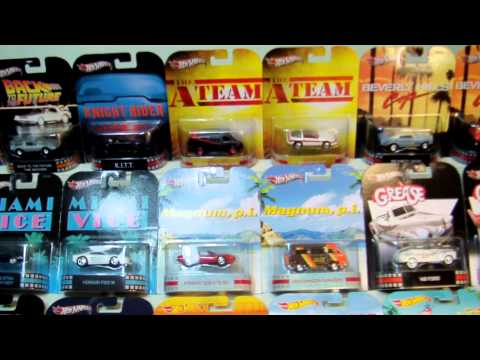 Hot Wheels Retro Entertainment, Movies, TV, Cartoons and POP Culture carded toy collection.