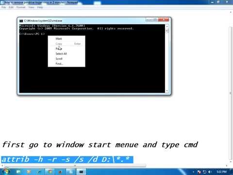 How to remove pendrive trojan virus in 2 minutes