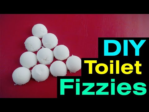 How to make DIY toilet fizzies: DIY homemade toilet bowl cleaner bomb