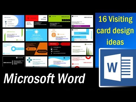 16 Visiting card design ideas in MS Word Part 1   Microsoft Word Tutorial