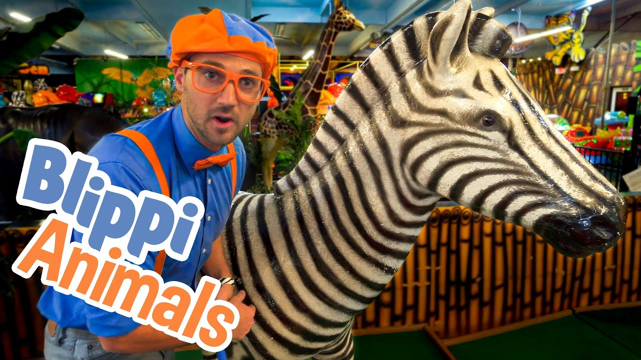 Blippi and Jungle Animals   Explore with BLIPPI!!!   Educational Videos for Toddlers