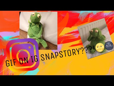 HOW TO INSERT GIF ON INSTAGRAM STORY✨⛄️