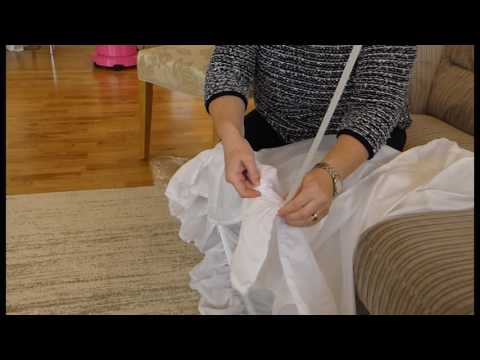 How To Prepare A Hoop For a Wedding Dress