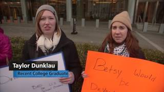 Protest Against Nomination of Betsy DeVos at Nat. School Board Assc. Meeting