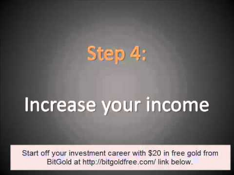 investment basics - How to start investing with little or NO CASH from BitGold