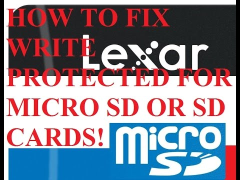How to Fix Write Protected Micro SD or SD Card