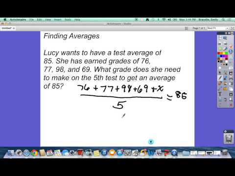 Find the Missing Test Score- Averages